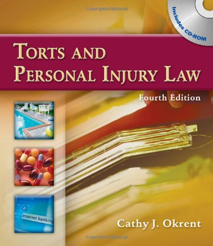 Torts and Personal Injury Law  4th 2010 edition cover