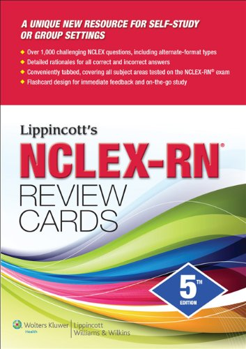 Lippincott's NCLEX-RN Review Cards  5th 2012 (Revised) edition cover