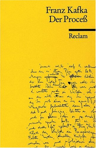 DER PROZESS 1st edition cover
