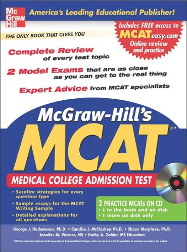 McGraw-Hill's New MCAT Medical College Admission Test  2007 9780071470766 Front Cover