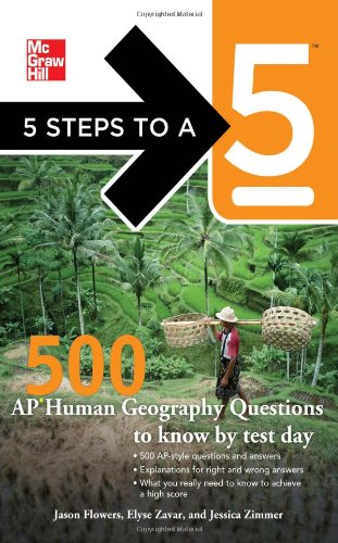 500 AP Human Geography Questions to Know by Test Day   2012 edition cover