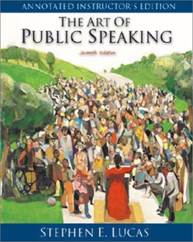 Art of Public Speaking: Annotated 7th 2001 edition cover