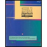 JAGERBUCH:ACCESS TO GERMAN,BAN 2nd 2002 edition cover