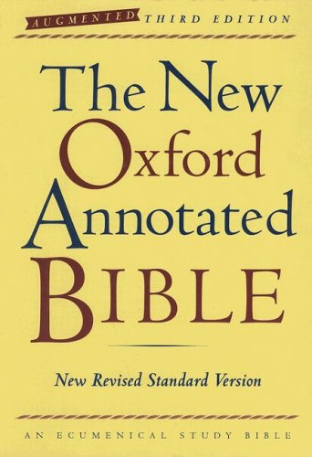 New Oxford Annotated Bible-NRSV-Augmented  3rd (Annotated) edition cover