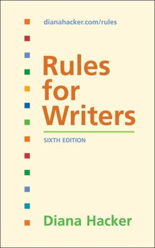 Rules for Writers  6th 2008 edition cover