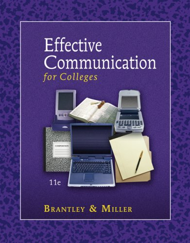 Effective Communication for Colleges  11th 2008 edition cover