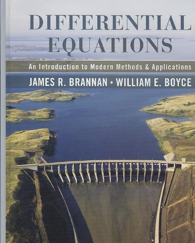 Differential Equations : An Introduction to Modern Methods and Applications 1st Edition with Student Solutions Manual Set  2007 edition cover