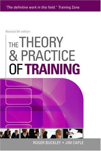 Theory and Practice of Training  5th 2007 (Revised) 9780749449766 Front Cover