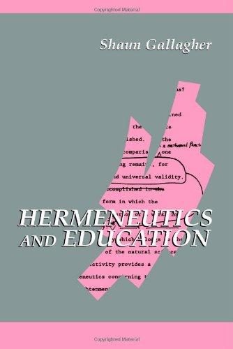 Hermeneutics and Education   1992 edition cover