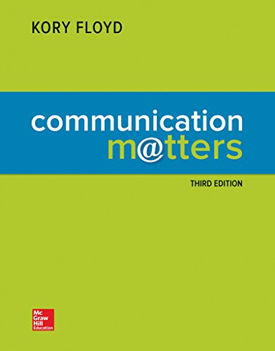 COMMUNICATION MATTERS (LOOSELEAF)       N/A 9781259707766 Front Cover