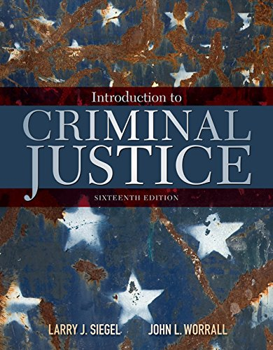 Introduction to Criminal Justice:   2017 9781305969766 Front Cover