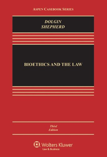 Bioethics and the Law:   2013 edition cover