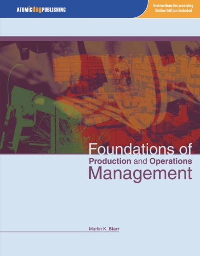 Foundations of Production and Operations Management  2007 edition cover