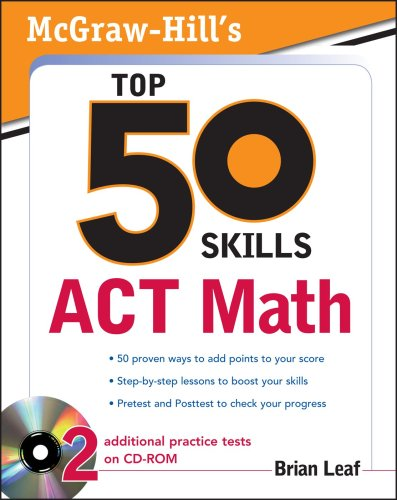 Top 50 Skills for a Top Score ACT Math   2010 edition cover