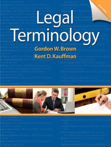 Legal Terminology  6th 2013 (Revised) 9780132738767 Front Cover