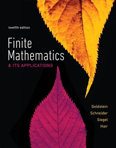 Finite Mathematics & Its Applications:   2017 9780134437767 Front Cover