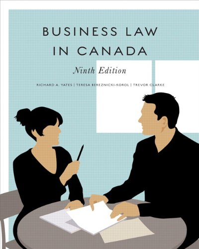 Business Law in Canada  9th 2011 9780135120767 Front Cover