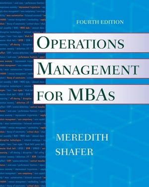 Operations Management for MBAs  4th 2010 edition cover