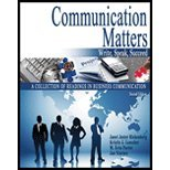 Communication Matters Write Speak Succeed: A Collection of Readings in Business Communications 2nd (Revised) 9780757573767 Front Cover