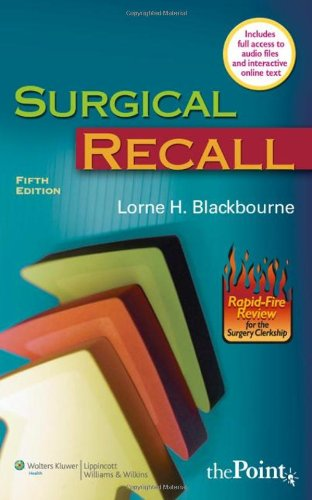 Surgical Recall  5th 2008 (Revised) edition cover
