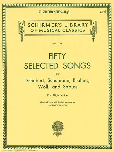 Fifty Selected Songs High Voice N/A edition cover