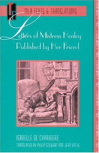 Letters of Mistress Henley Published by Her Friend   1993 edition cover