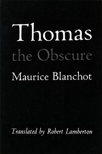Thomas the Obscure  Reprint edition cover