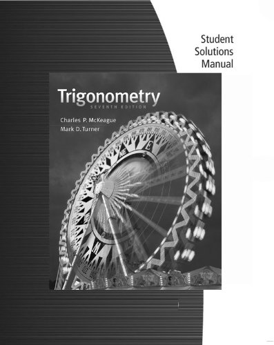Student Solutions Manual for McKeague/Turner's Trigonometry  7th 2013 edition cover