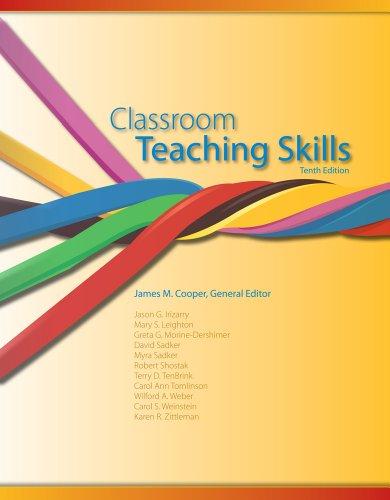 Classroom Teaching Skills  10th 2014 edition cover