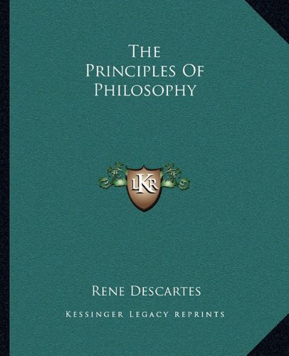 Principles of Philosophy  N/A 9781162705767 Front Cover