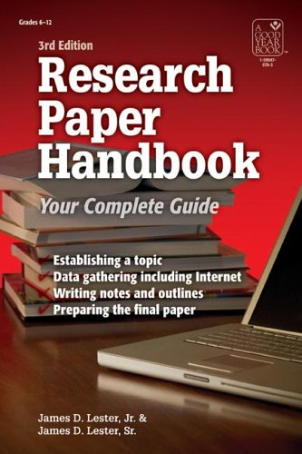 Research Paper Handbook Your Complete Guide 3rd 2005 edition cover