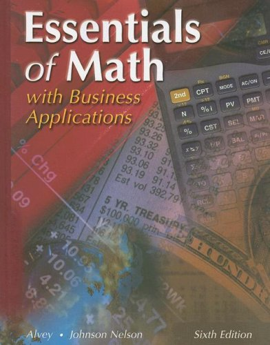 Essentials of Math : With Business Applications 6th 2001 (Student Manual, Study Guide, etc.) edition cover