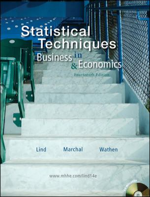 Statistical Techniques in Business and Economics 14th 2010 edition cover