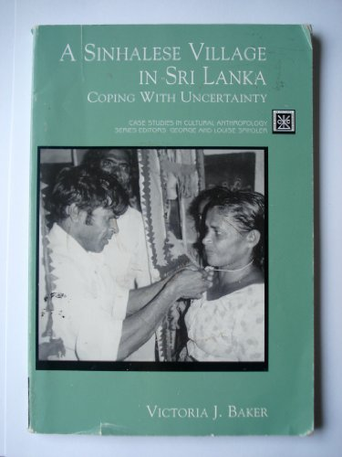 Sinhalese Village in Sri Lanka Coping with Uncertainty  1998 edition cover