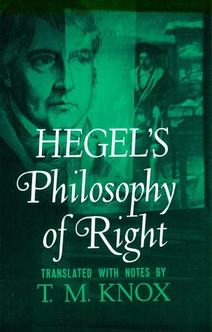 Philosophy of Right   1967 edition cover