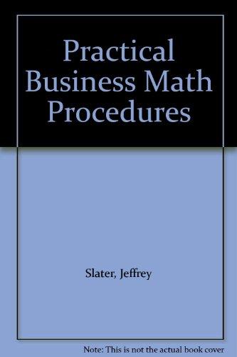 Practical Business Math Procedures Excel Workbook 5th 1997 (Workbook) 9780256226768 Front Cover