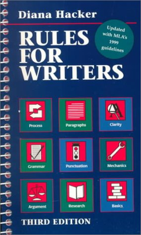 Rules for Writers 3rd 1996 edition cover
