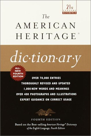 American Heritage Dictionary  4th 2001 edition cover