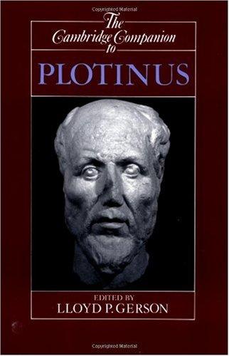 Cambridge Companion to Plotinus   1996 edition cover