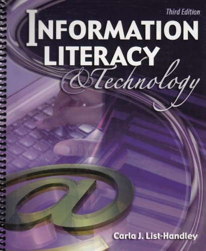 Information Literacy and Technology  3rd 2005 (Revised) 9780757518768 Front Cover