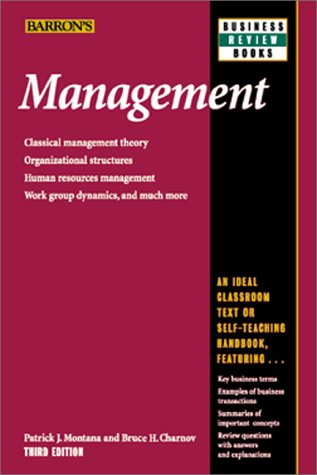 Management  3rd 2000 9780764112768 Front Cover