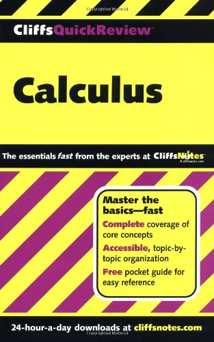 CliffsQuickReview Calculus  7th 2001 edition cover