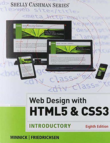 Web Design with HTML and CSS3 Introductory 8th 2016 edition cover