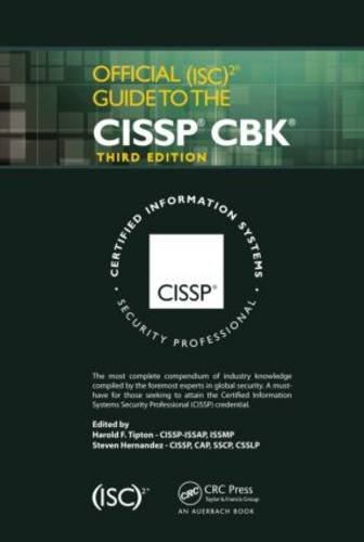 Official (ISC)2 Guide to the CISSP CBK, Third Edition  3rd 2012 (Revised) edition cover