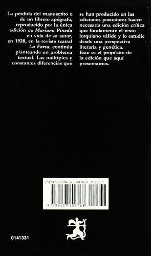 MARIANA PINEDA  4th 1998 edition cover
