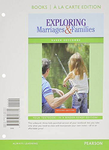 Exploring Marriages and Families: Books a La Carte Edition  2014 edition cover