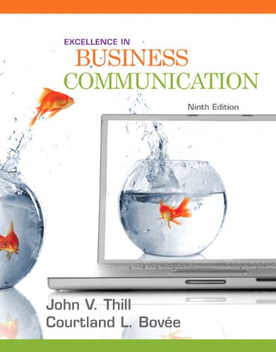 Excellence in Business Communication  9th 2011 edition cover
