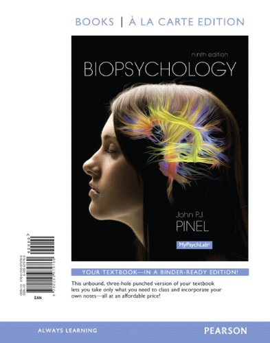 Biopsychology, Books a la Carte Edition  9th 2014 edition cover