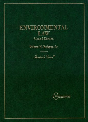 Environmental Law  2nd 1994 (Revised) 9780314035769 Front Cover