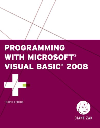 Programming with Microsoft Visual Basic 2008  4th 2010 edition cover